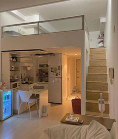 Room Design Bedroom, Room Ideas Bedroom, Home Room Design, Dream Home Design, Loft House, House Rooms, Korean Apartment Interior, Appartement Design, Study Room Decor