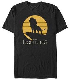 Disney: The Lion King- Simba Pride Rock Silhouette Movies T-Shirt