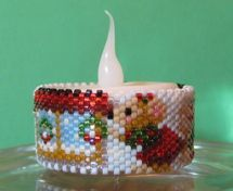 Instant Download: Missy Mouse Xmas Window Tea Light Cover Pattern