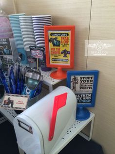 World Robot Boxing (Real Steel) Theme Customised partyware signage