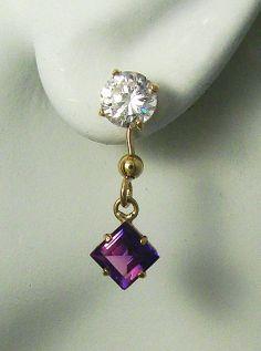 EARRING JACKETS for Studs 14k Gold  Enhancer  Dangle by earcuffs, $149.00