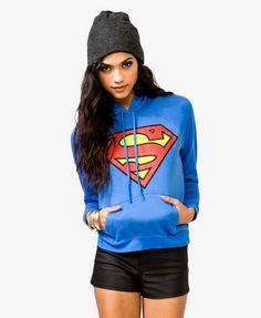 Superman™ Hoodie   FOREVER 21 - 2040494890 this is duh cute <3
