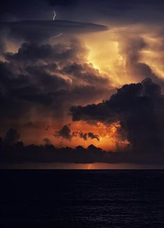 colorful dark sunsets   ... uploaded sunset sunrise flickr thunder horizon flash vertical skies