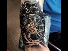 Pocket Watch Tattoo by Leonardo Acosta # .- Taschenuhr-Tattoo von Leonardo Acosta # Pocket watch tattoo by Leonardo Acosta # … - Hand Tattoos, Forearm Sleeve Tattoos, Best Sleeve Tattoos, Life Tattoos, Body Art Tattoos, Tattoos For Guys, Cool Tattoos, Clock Tattoo Sleeve, Tattoo Sleeve Designs
