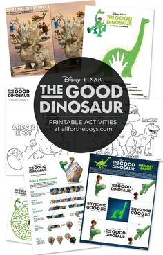 The Good Dinosaur Printable Activities — All for the Boys Dinosaur Movie, The Good Dinosaur, Dinosaur Birthday, Dinosaur Dinosaur, Dinosaur Printables, Dinosaur Cards, Le Voyage D'arlo, Arlo Und Spot, Diy Planner
