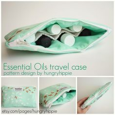 Essential oils carrying case pattern release.