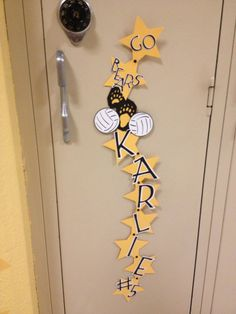 Volleyball locker decorations!!