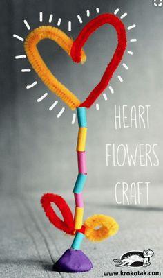 Iedereen kent ze wel! Maar misschien wist je niet dat ze zo genoemd werden. Chenilledraad of Pijpenragers. De naam pijpenragers is niet moeilijk te herleiden. Vroeger ma Toddler Valentine Crafts, Toddler Crafts, Diy Crafts For Kids, Arts And Crafts, Valentines, Easy Stitch, V Stitch, Crochet Stitch, Heart Crafts