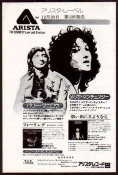 1976 Arista Barry Manilow Melissa Manchester JAPAN album promo ad
