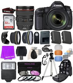 Introducing Canon EOS 5D Mark III 223 MP Full Frame CMOS Digital SLR Camera with EF 24105mm f4 L IS USM Lens  SanDisk 32GB Ultra Class 10 SDHC UHSI Memory Card and Professional Complete Accessory Bundle. Great Product and follow us to get more updates!