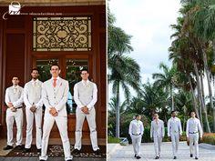 Great grooms. Destination Wedding at the Ritz-Carlton Grand Cayman by Rebecca Davidson