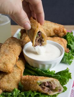 Philly Cheese Steak Egg Rolls: serve with the sweet chili sauce for a mix up (like the ones at restaurant in DC)