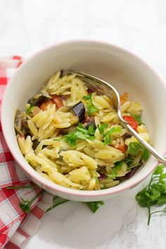 Summer Orzo Salad with Roasted Vegetables