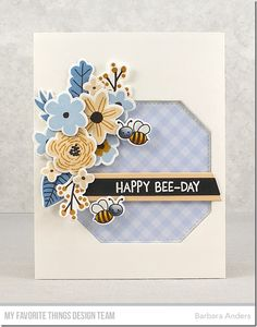 Stamps: More Rustic Wildflowers, Meant to Bee Die-namics: More Rustic Wildflowers, Meant to Bee, Stitched Tag – Corner Square STAX, Slanted Sentiment Strips  Barbara Anders #mftstamps