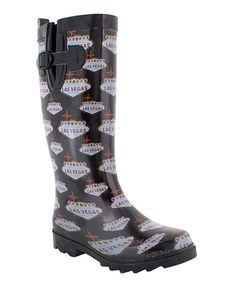 0bec320cc1b2b Loving this Capelli New York Black Las Vegas Rain Boot on  zulily!   zulilyfinds