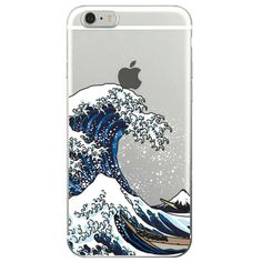GREAT WAVE TRANSPARENT SILICONE CASE $8,30