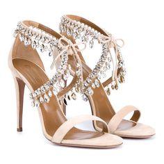 Femmes cristal embelli suede cut out dentelle up peep toe pompes noir beige  strass cheville sangle sandale bijou haute talon chaussures dans Femmes de  ... 3f9e817af06b