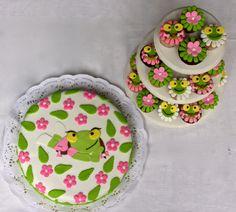 "Torta y cupcakes ""Sapa Pepa"""