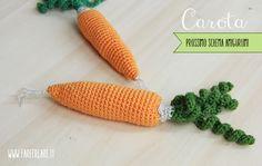 Scuola di amigurumi online: schema per carota amigurumi.