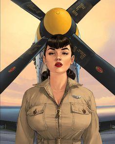 Pin Up Girl Vintage, Vintage Art, Blake Et Mortimer, Bd Art, Pin Up Pictures, Fallout New Vegas, Fallout 3, Airplane Art, Pin Up Girls