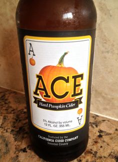 Ace hard pumpkin cider... gluten free deliciousness for fall :)