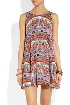 Mara Hoffman|Rainbow printed stretch-jersey tank dress