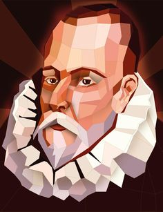 """Miguel de Cervantes is known best for writing """"Don Quijote,"""" one of the world's most famous novels and one of the first in a European language. Dom Quixote, Don Miguel, Famous Novels, Ap Spanish, European Languages, Abstract Portrait, Spanish Language, Typography Design, Pop Art"""