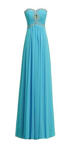 Endofjune Simple Sequined Waist Chiffon Bridesmaid Dresses Atmosphere US-14 Blue -- Be sure to check out this awesome product. (This is an affiliate link and I receive a commission for the sales)