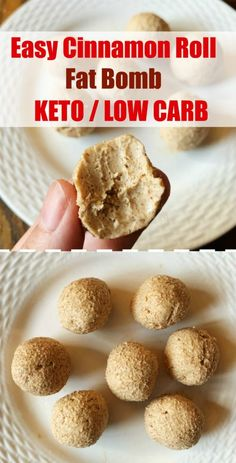 A cinnamon roll fat bomb with my favorite bulletproof coffee makes a great break. - A cinnamon roll fat bomb with my favorite bulletproof coffee makes a great breakfast. These easy sweet fat bombs get their flavor from cinnamon and br. Keto Fat, Low Carb Keto, Low Carb Recipes, Paleo, High Fat Keto Foods, Cheap Recipes, Easy Recipes, Desserts Keto, Whole 30 Recipes