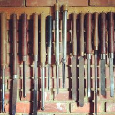 Wood turning tools at the Woodturner's Union, Pretoria.