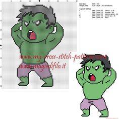 Hulk patrón punto de cruz