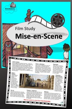 """Mise-en-Scene is a powerful technique used in film (and on stage). Meaning """"placement on stage"""", it's about the way people, objects, colour, lighting etc are placed in a single shot. The way elements are used in that shot tell a significant story so it's important that your students can analyse this. This PDF comes in two sizes - one for your screen/projector, but also one to print. Film Studies, High School Students, Dressmaking, Are You The One, Middle School, Physics, Meant To Be, Stage, Objects"""