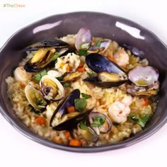 Seafood Risotto by Mario Batali! #TheChew #Risotto