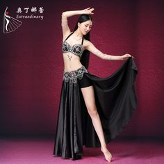 dd5d199ab2ad Find More Belly Dancing Information about Professional High Grade Belly  Dancing Costume Shining Performance Effect ,