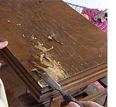 Fast fixes for wood furniture (wobbly legs, repair veneer, split wood, chewed furniture)