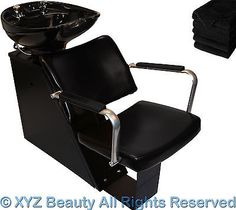 Ceramic Backwash Unit Shampoo Bowl Sink Chair Station Beauty Spa Salon Equipment