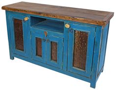 This handmade rustic entertainment console features four doors with hammered iron panels giving it a unique rustic appeal. Hand Painted Furniture, Recycled Furniture, Handmade Furniture, Cheap Furniture, Discount Furniture, Online Furniture, Rustic Furniture, Bespoke Furniture, Painted Wood