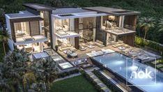 Architecture & construction Luxury villa in Benahavis Modern Villa Design, Luxury Homes Dream Houses, Dream Homes, Modern Architecture House, Modern Mansion Interior, Architecture Design, Dream House Exterior, Luxury Home Decor, Skyfall