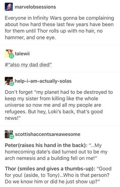Poor Thor. He is very strong also mentally.