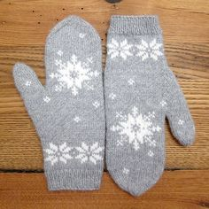 Knit up a pair of cozy mittens to help get you through this cold, cold winter