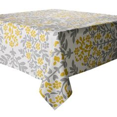 I want to make curtains out of this table cloth for my kitchen. It is going yellow and gray. Can't wait!
