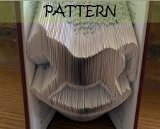 FOR SALE Book folding Pattern: ROCKING HORSE design (including instructions) – DIY gift – Papercraft Tutorial - perfect Christening gift