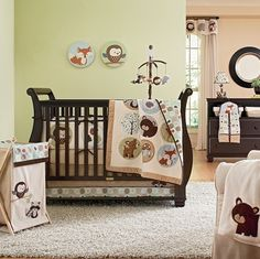 Carters Forest Friends room. Also like soft green or peach