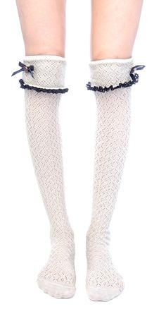 white knee socks lip service