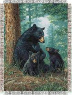 Tapestry Throw Bears Naptime 48 x 60 Hautman Bros. The Northwest Co - Afghans, Throws