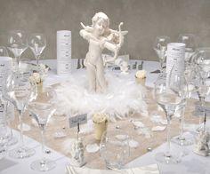 Love angel themed wedding table