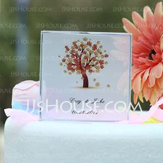 Personalized Favors - $23.99 - Personalized Tree Design Crystal Cake Topper (118030220) http://jjshouse.com/Personalized-Tree-Design-Crystal-Cake-Topper-118030220-g30220