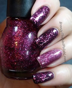 Sinful Colors - Girls Best Friend over black, and by itself.