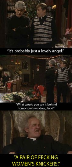"14 Moments From ""Father Ted"" That We Will Always Remember Father Jack By British Humor, British Comedy, Ted Meme, Sheldon The Tiny Dinosaur, Still Game, Father Ted, Married With Children, Classic Comedies, Humor"