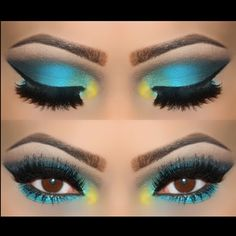 Colorful but classy! Easy Makeup Tutorial, Simple Makeup, Eye Makeup, Make Up, Eyes, Artist, Classy, Colorful, Beauty